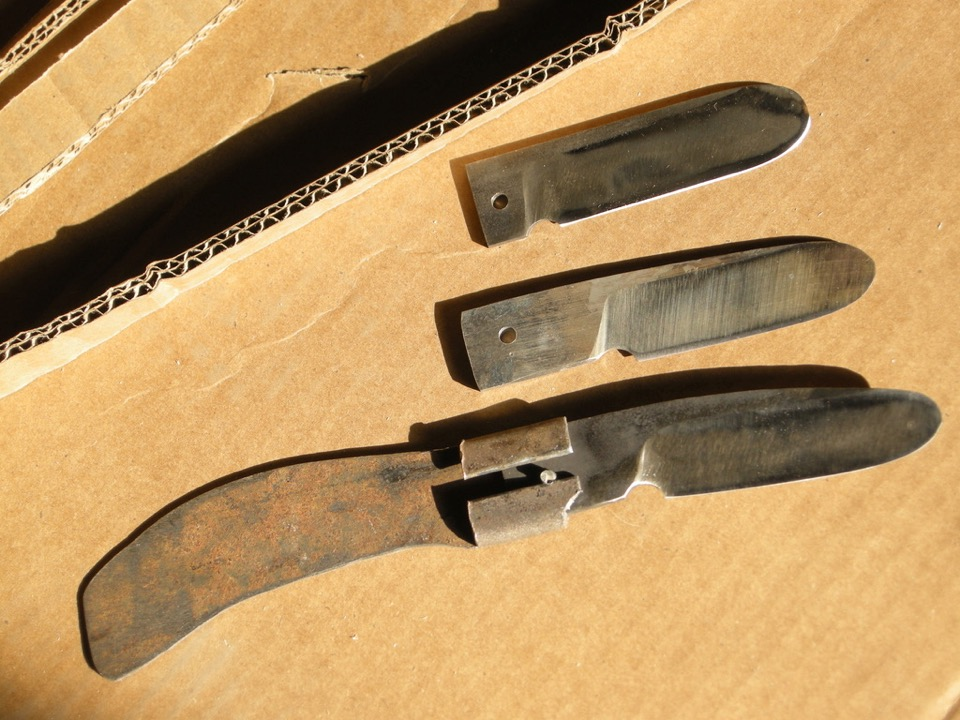 three test blades